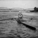 """""""Panienka z chmur"""", Bernard Marwiński, widok na most drogowy, Toruń"""